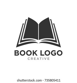 creative book logo design