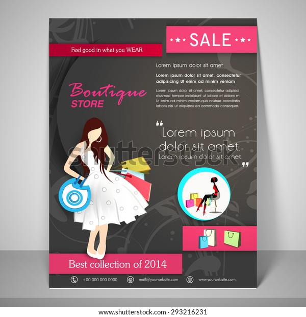 Creative Boutique Store Template Banner Flyer Stock Vector (Royalty