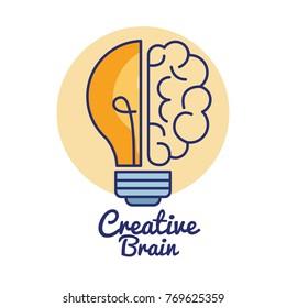 creative brain concept icon