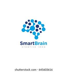 Creative Brain Concept Logo Design Template