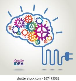 Creative Brain Idea concept background.