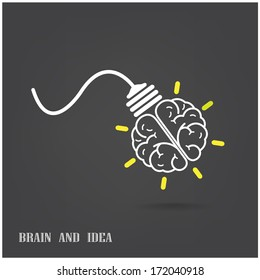 Creative brain Idea concept background design for poster flyer cover brochure ,business dea ,abstract background.vector illustration