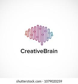 Creative Brain Idea Mind Think Design Vector