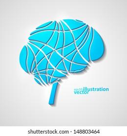 Creative brain, modern vector illustration eps10