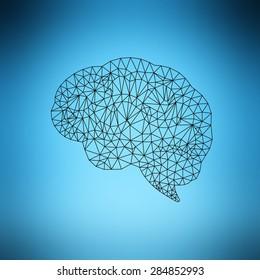 Creative brain vector concept.