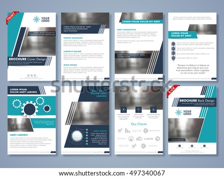 creative brochure cover design professional template のベクター画像