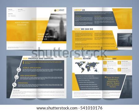 creative brochure design set professional template stock vector