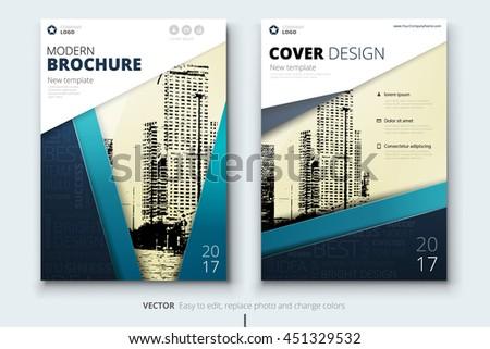 creative brochure layout design corporate business stock vector