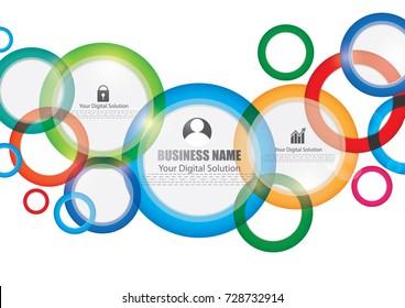 Creative brochure template design