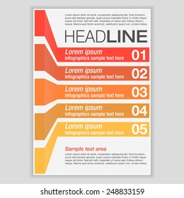 Creative Brochure Template Design with infographic chart. Abstract  Vector Flyer, Pamphlet, Leaflet layout for marketing, advertising and Flat style web site banners, Posters, Placards.