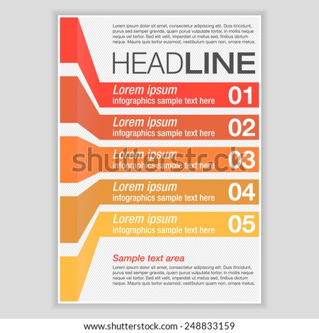 creative brochure template design infographic chart のベクター画像