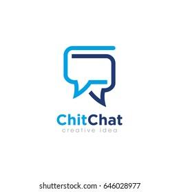 Creative Bubble Chat Concept Logo Design Template