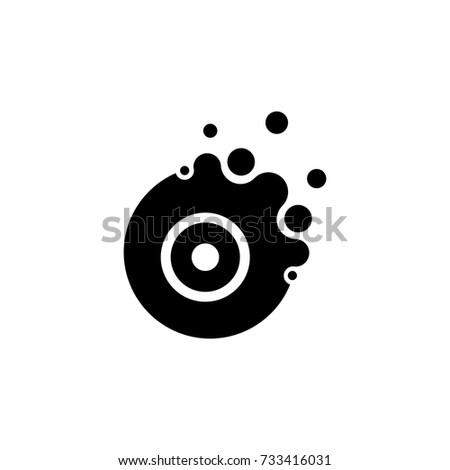 Creative Bubble Letter O Logo Design Vector Illustration