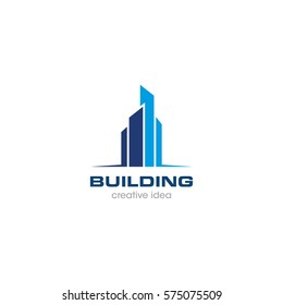Creative Building Concept Logo Design Template