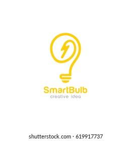 Creative Bulb Concept Logo Design Template