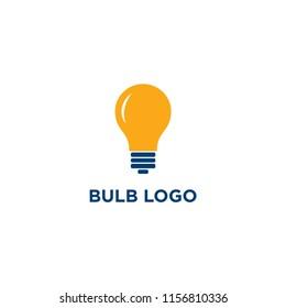 creative bulb logo, smart, idea logo vector