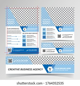 creative business agency flyer, social media, and banner templates