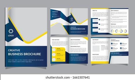 Creative business bi-fold brochure template