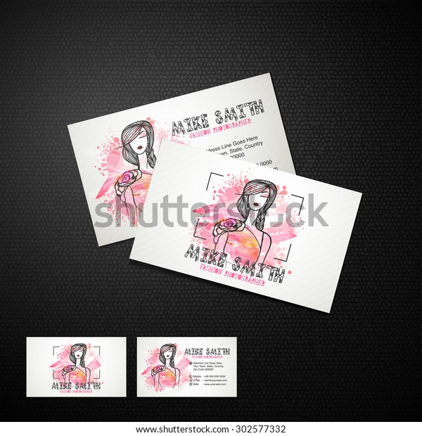 Creative Business Card Design Illustration Young Stock Vector Royalty Free 302577332
