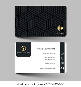 Creative business card design on the gray background. With inspiration from the abstract. Vector illustration EPS10.