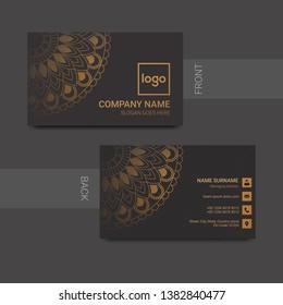 Creative business card design - Vector