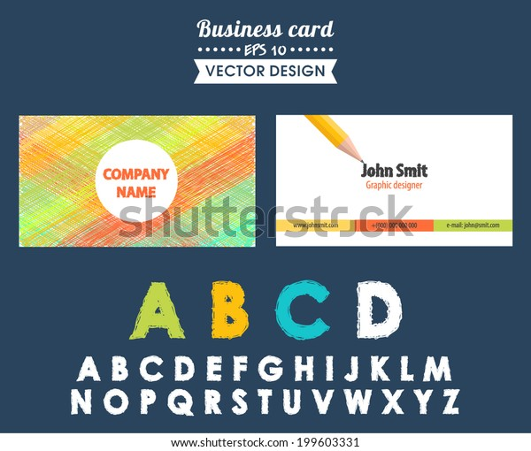 Creative Business Card Different Design Elements Stock