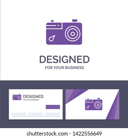 Creative Business Card and Logo template Camera, Image, Picture, Photo Vector Illustration