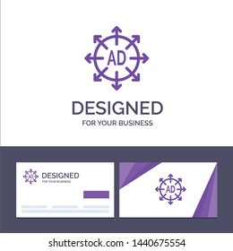 Creative Business Card and Logo template Advertising, Submission, Advertising Submission, Ad Vector Illustration