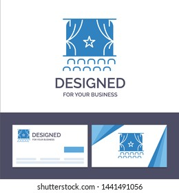 Creative Business Card and Logo template Cinema, Debut, Film, Performance, Premiere Vector Illustration