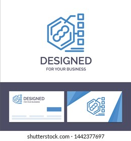 Creative Business Card and Logo template Bacteria, Biochemical, Examination, Form, Life Vector Illustration