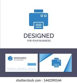 Creative Business Card and Logo template Printer, Print, Printed, Machine Vector Illustration