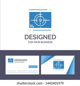 Creative Business Card and Logo template Film, Movie, Numbers, Opening, Premiere Vector Illustration