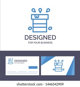 Creative Business Card and Logo template Bag, Dry, Miscellaneous, Resistant, Water Vector Illustration