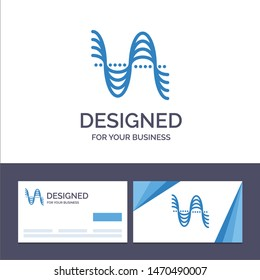 Creative Business Card and Logo template Frequency, Hertz, Pitch, Pressure, Sound Vector Illustration. Vector Icon Template background