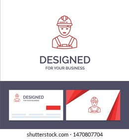 Creative Business Card and Logo template Worker, Industry, Avatar, Engineer, Supervisor Vector Illustration. Vector Icon Template background