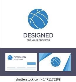 Creative Business Card and Logo template Ball, Basketball, Nba, Sport Vector Illustration. Vector Icon Template background