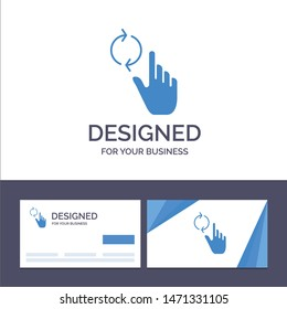 Creative Business Card and Logo template Finger, Hand, Refresh, Gesture Vector Illustration. Vector Icon Template background