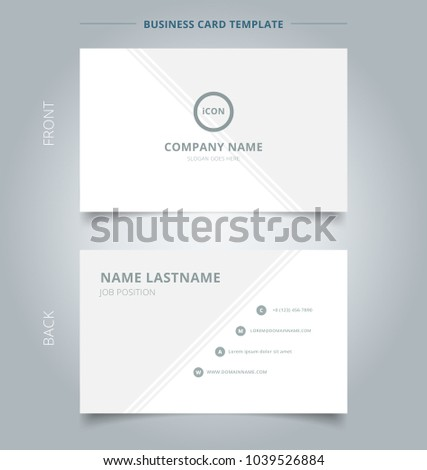 Creative business card name card template stock vector royalty free creative business card and name card template gray and white with lines diagonally background abstract accmission Choice Image