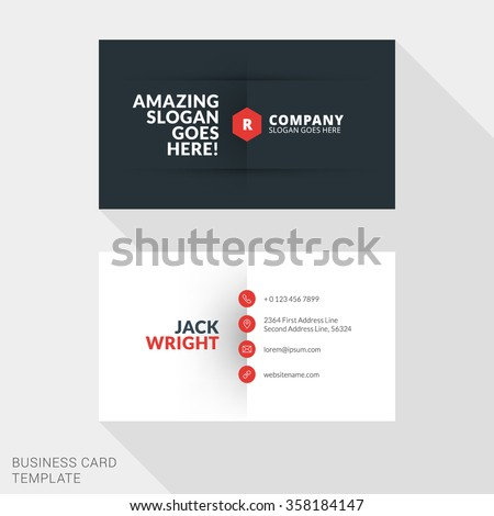 Creative business card print template flat stock vector royalty creative business card print template flat design vector illustration stationery design cheaphphosting Choice Image