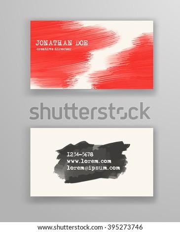 Creative Business Card Templates Minimalistic Design Stock Vector