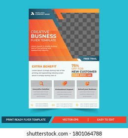 creative  Business Flyer Template abstract vector template. Brochure design, cover modern layout, annual report, poster, flyer in A4 size.Business brochure flyer design a4 template.