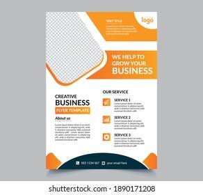 Creative Business Flyer Template Vector Editable and Print ready