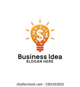 creative business idea logo design template. bulb icon symbol design