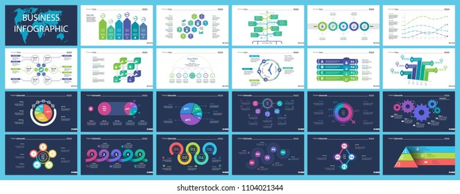 Creative business infographic design for analysis concept. Can be used for workflow layout, annual report, web design. Option chart, process chart, organizational graph, flowchart, pie chart