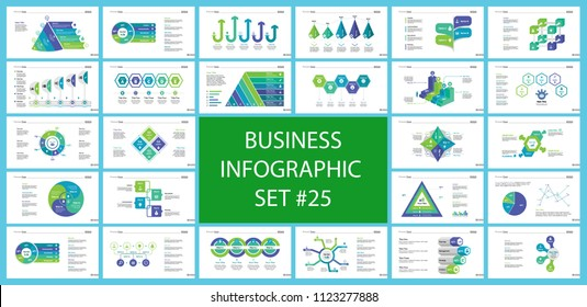 Creative business inforgraphic design set can be used for presentations, annual report, web design. Business concept. Donut, arrow, timeline, process charts, flowchart, comparison graph