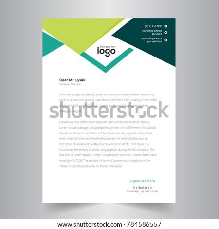 Business Letterhead | Creative Business Letterhead Design Stock Vektorgrafik Lizenzfrei