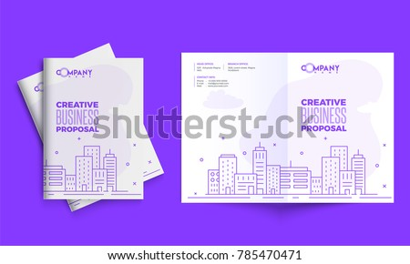 Creative business proposal design corporate template stock vector creative business proposal design corporate template layout with front and back pages presentation wajeb Images