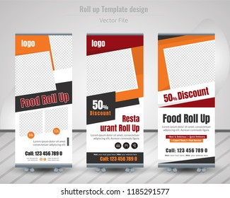 Creative Business Roll Up Design. Standee Design. Banner Template. Presentation and Brochure. Vector illustration,