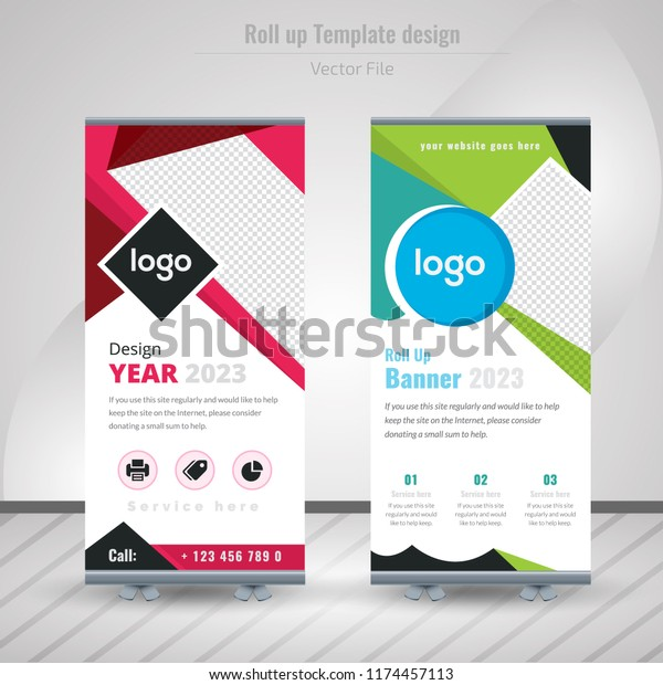 Creative Business Roll Design Standee Design Stock Vector