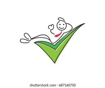 Creative Business Strategy Tips Stickman Illustration Concept - Always Provide Customer Satisfaction Guarantee